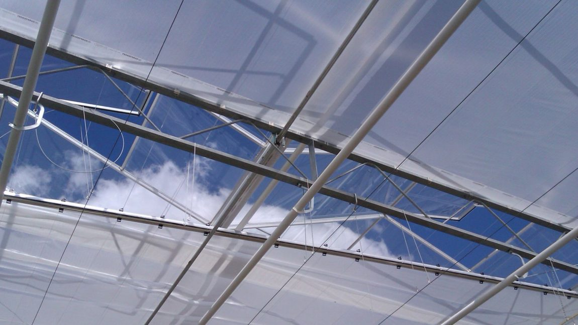 Greenhouse energy saving and shading systems